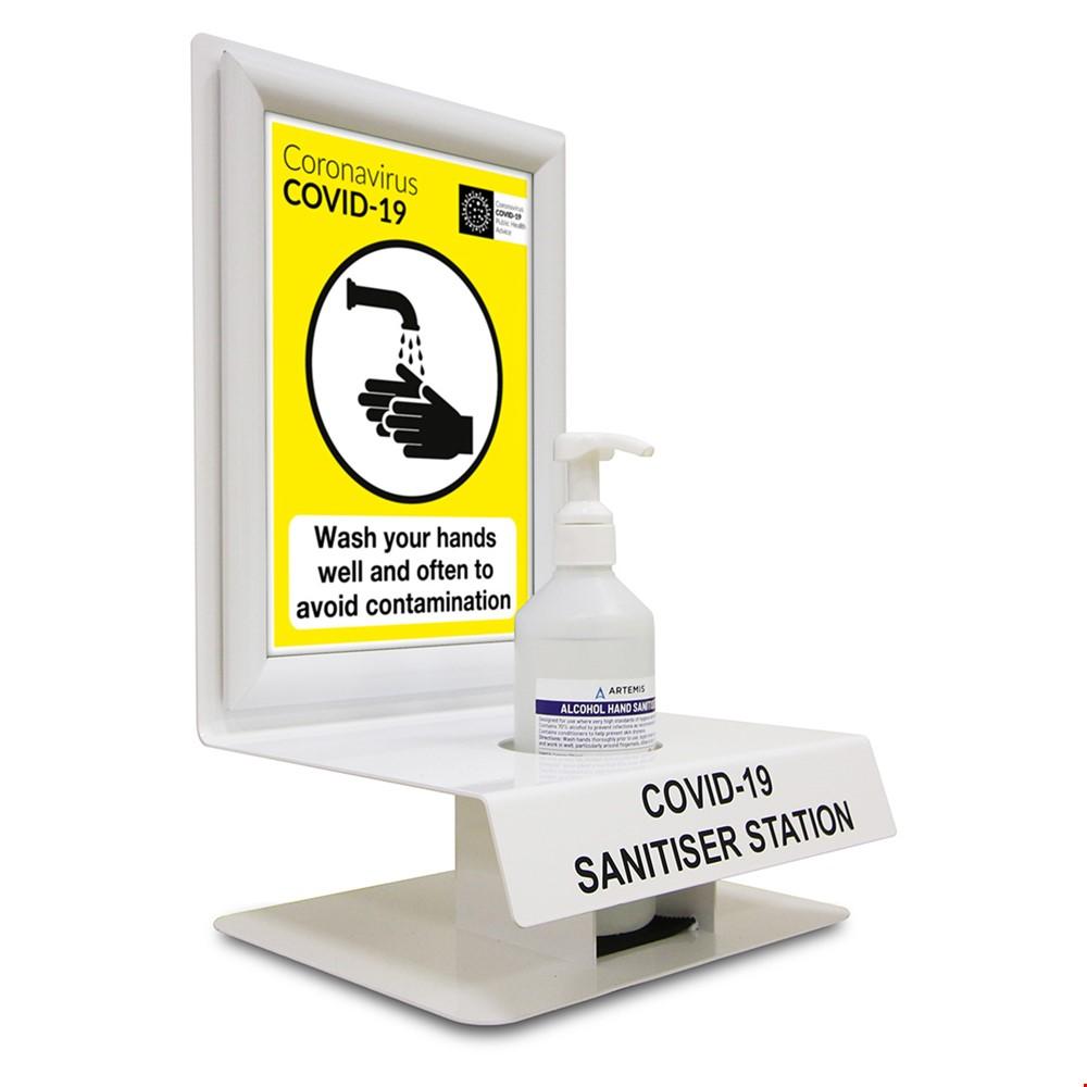 Desk And Wall Mounted Hand Sanitiser Dispenser