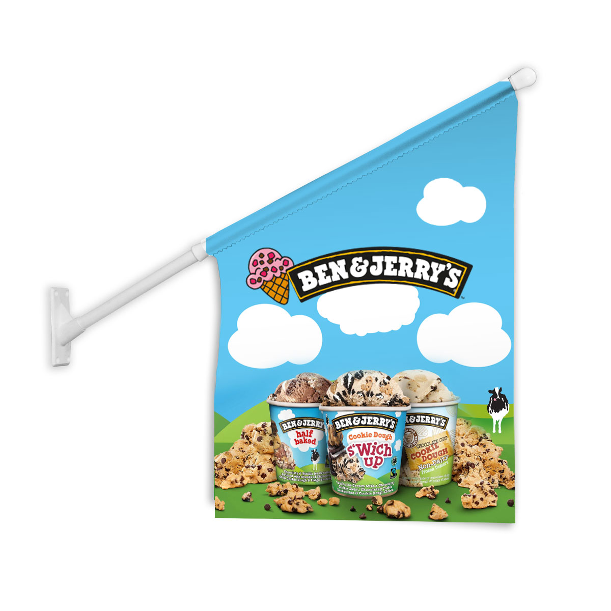 Wall Mounted Promotional Flags