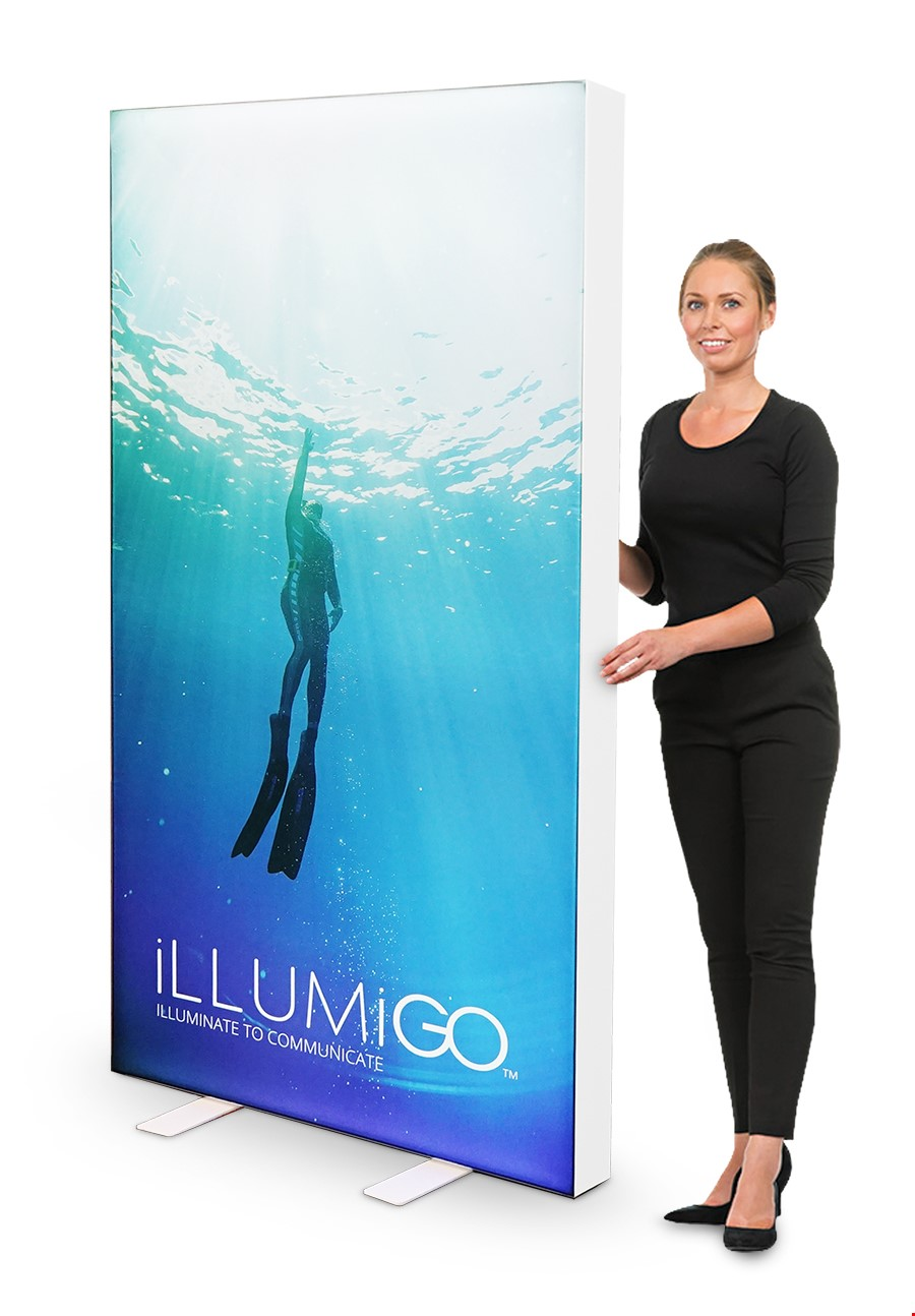 illumiGO LED Lightbox Freestanding