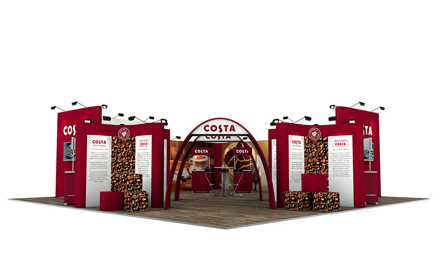 10m x 10m Linked Pop Up Exhibition Stand