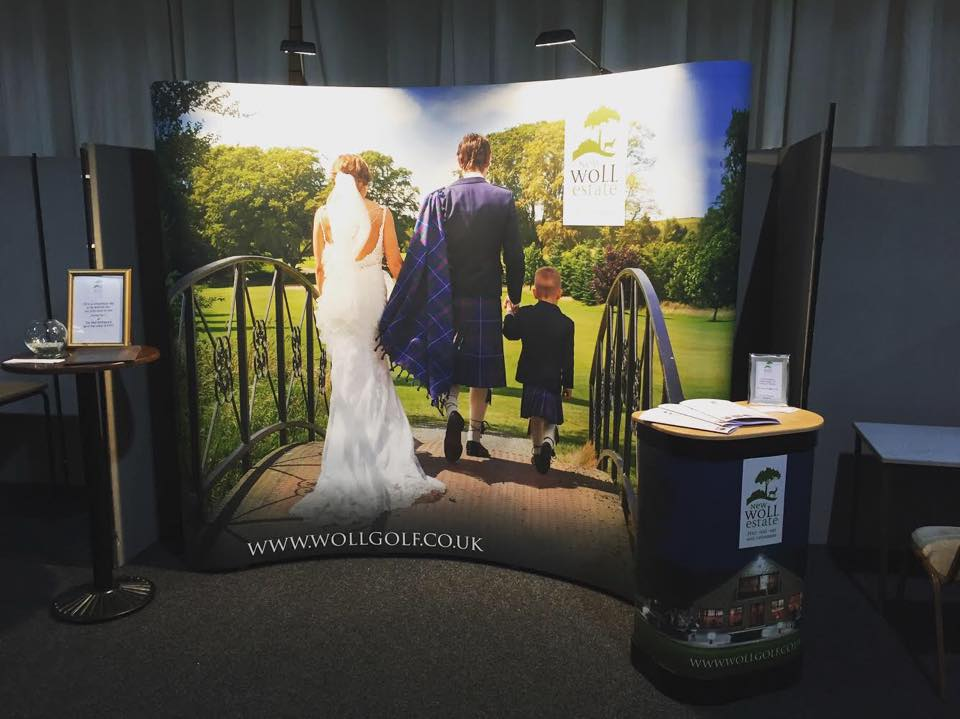 Woll Golf Pop Up Display Stand