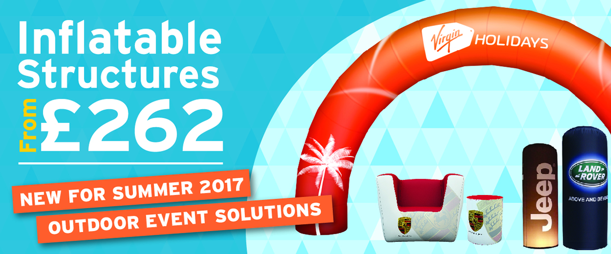 New For Summer 2017 – Inflatable Structures