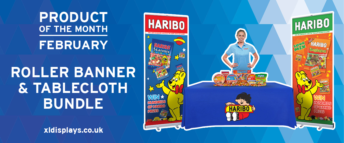 Product of the Month: Printed Tablecloth and Roller Banner Bundle