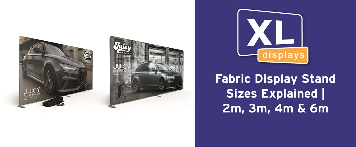 Fabric Display Stand Sizes Explained | 2m, 3m, 4m & 6m