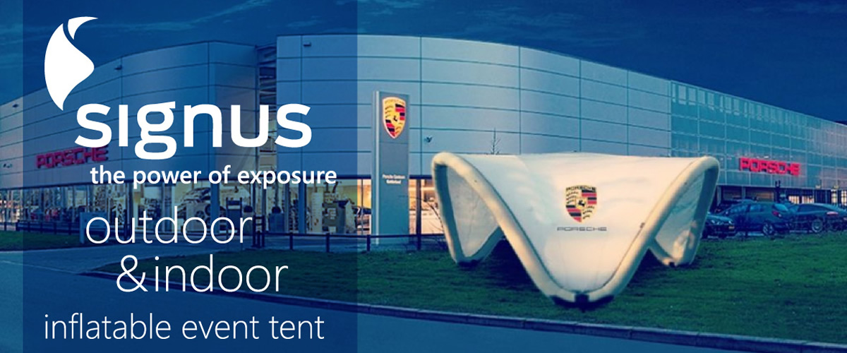Signus ONE - Our New and Exclusive Inflatable Brand Pavilion