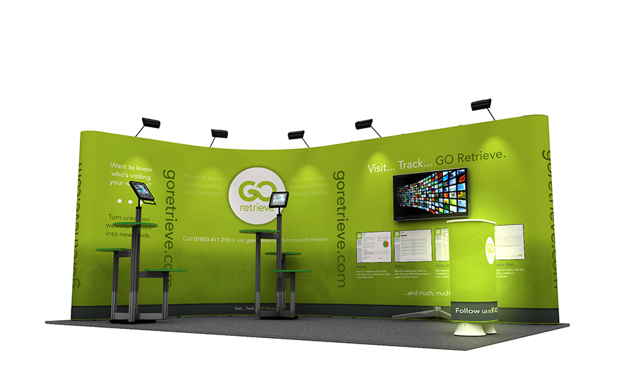 L-Shaped Pop Up Exhibition Stands