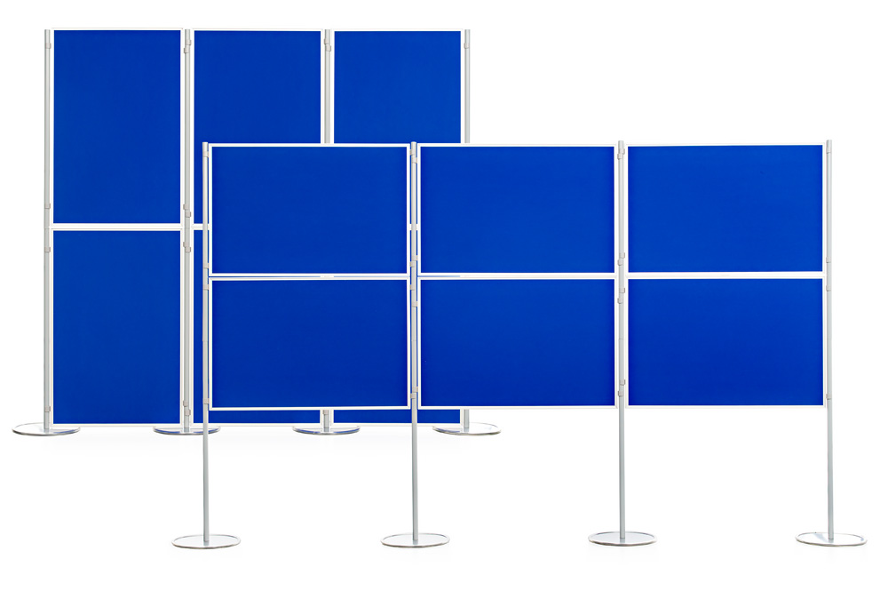 Modular Panel And Pole Display Boards