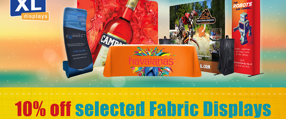 10% Off The UK's Best Selling Fabric Displays