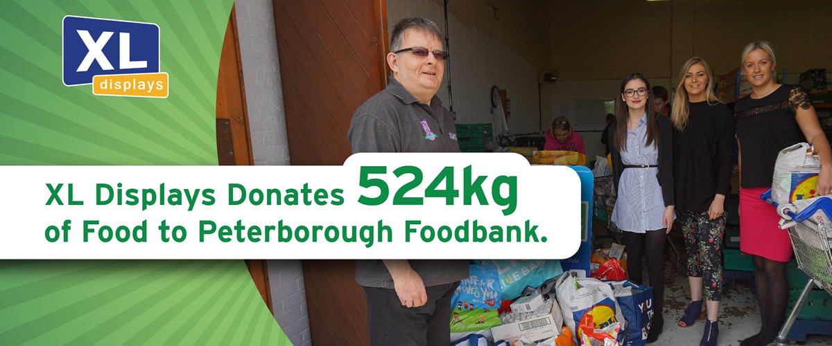 XL Displays Donates 524kg of Food to the Peterborough Food Bank