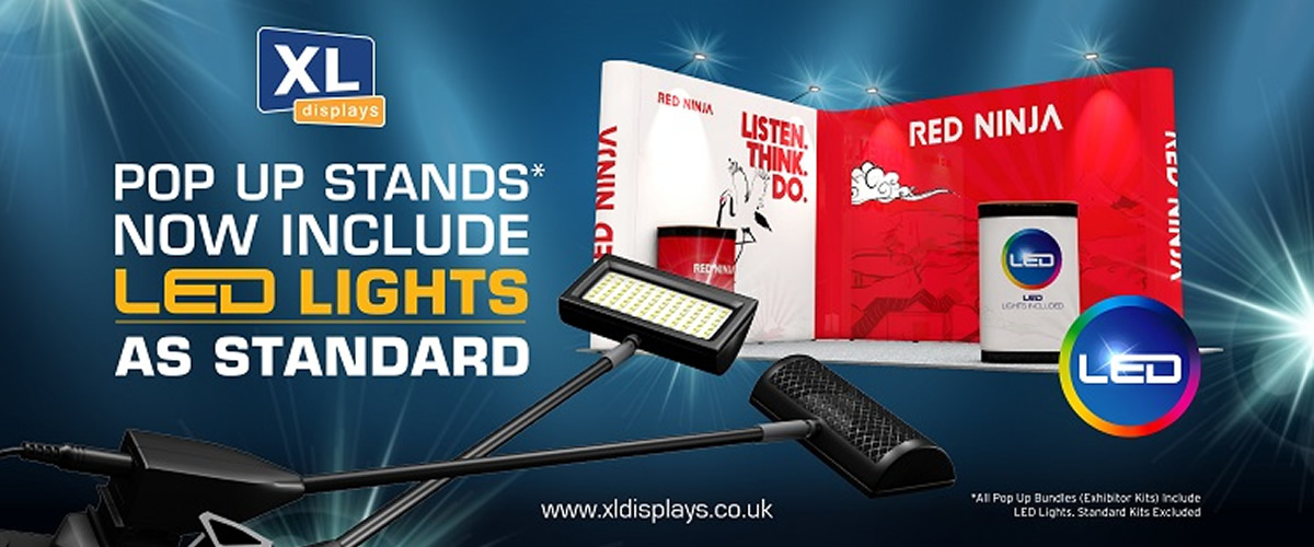 Free LED Lights With Every Pop Up Exhibition Stand