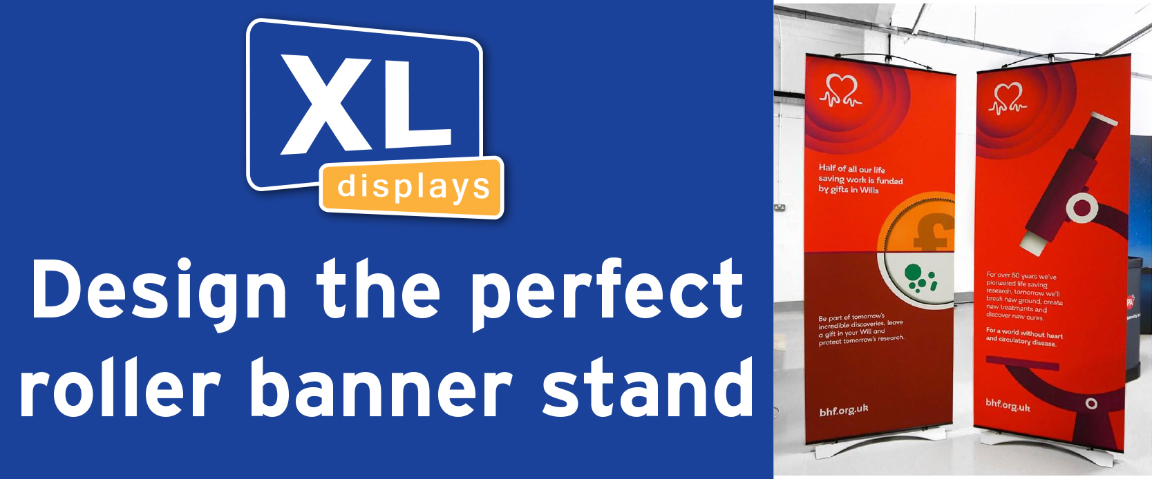 Design the perfect roller banner stand