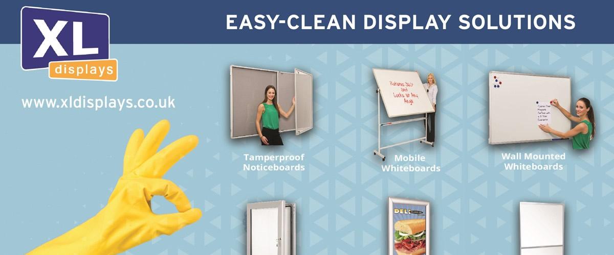 Easy-Clean Display Solutions