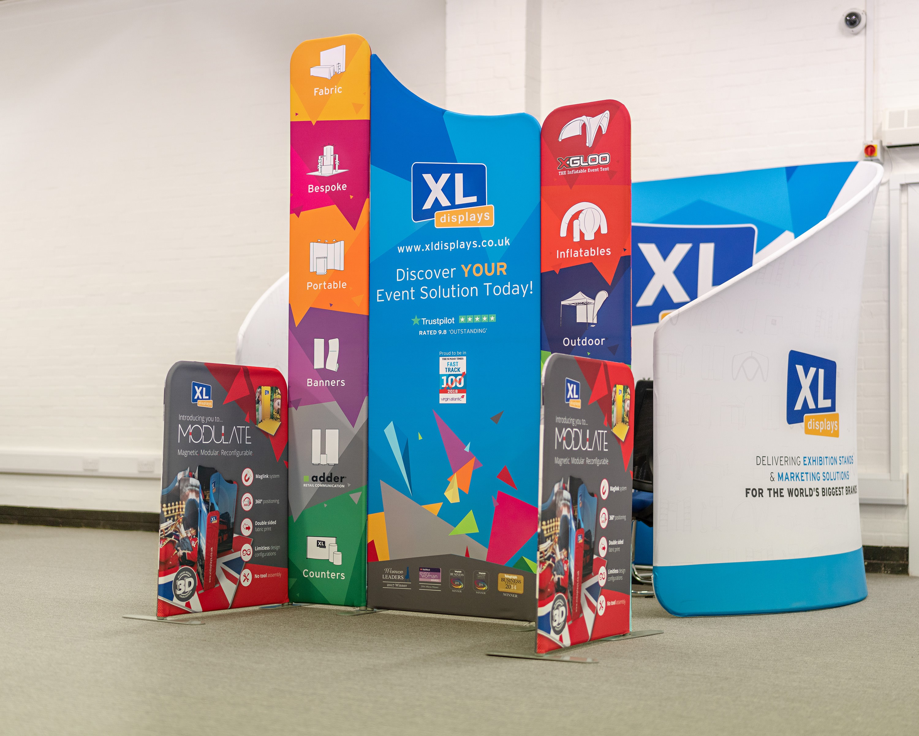 We Print the Fabric Graphics for Each Modulate™ Exhibition Stand In-House Using a Dye-Sublimation Printing Technique for Maximum Quality