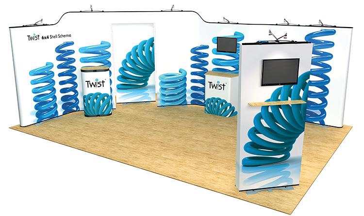 Twist Modular Display Stand