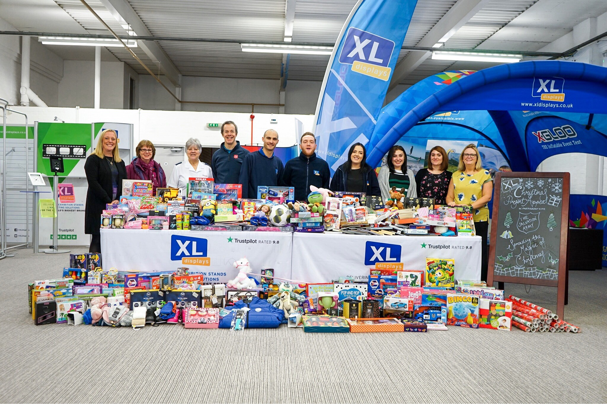 XL Displays Christmas Present Appeal