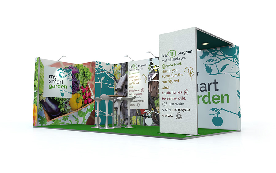 Custom Linear Vector Exhibition Stand