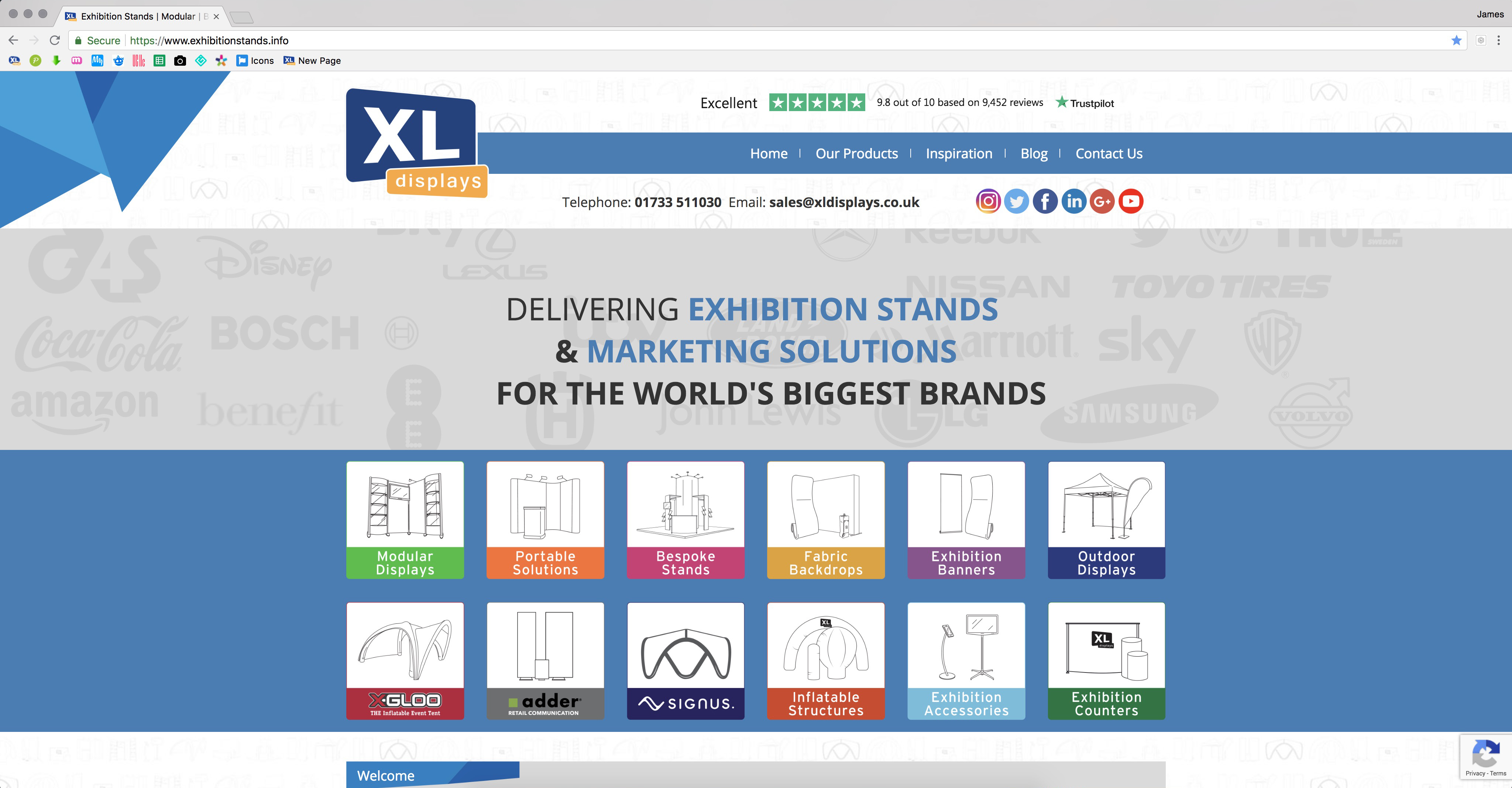 Exhibition Stands Information Website - XL Displays