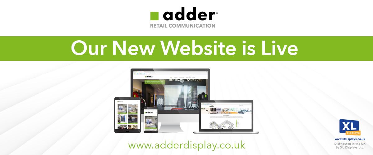 XL Displays Launches Brand New Adder Retail Displays Website