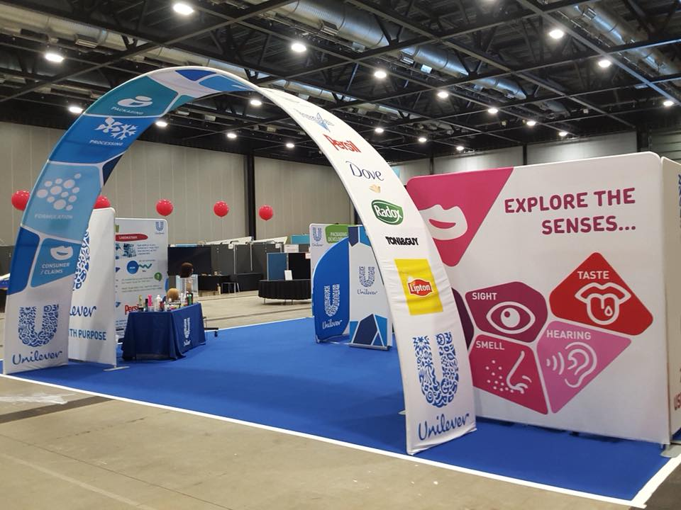 Fabric Exhibition Stand For Unilever