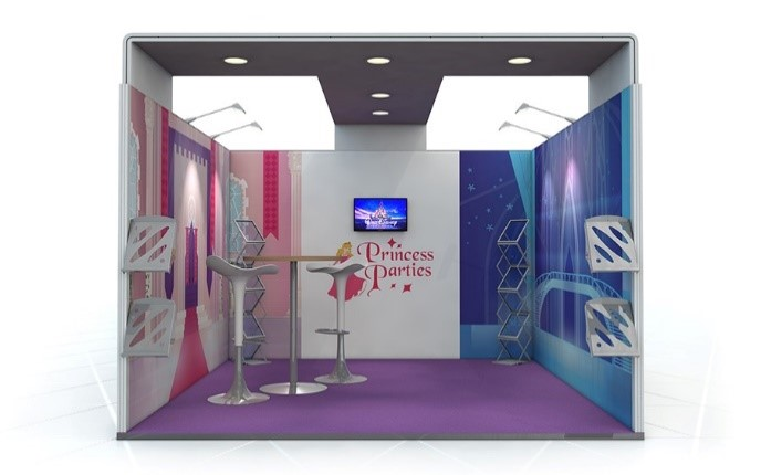 Linear Vector Exhibition Stand