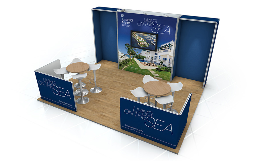Linear Vector Bespoke Exhibition Stand