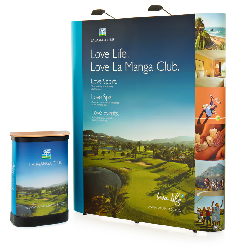 3x2 Straight Pop Up Display Stand