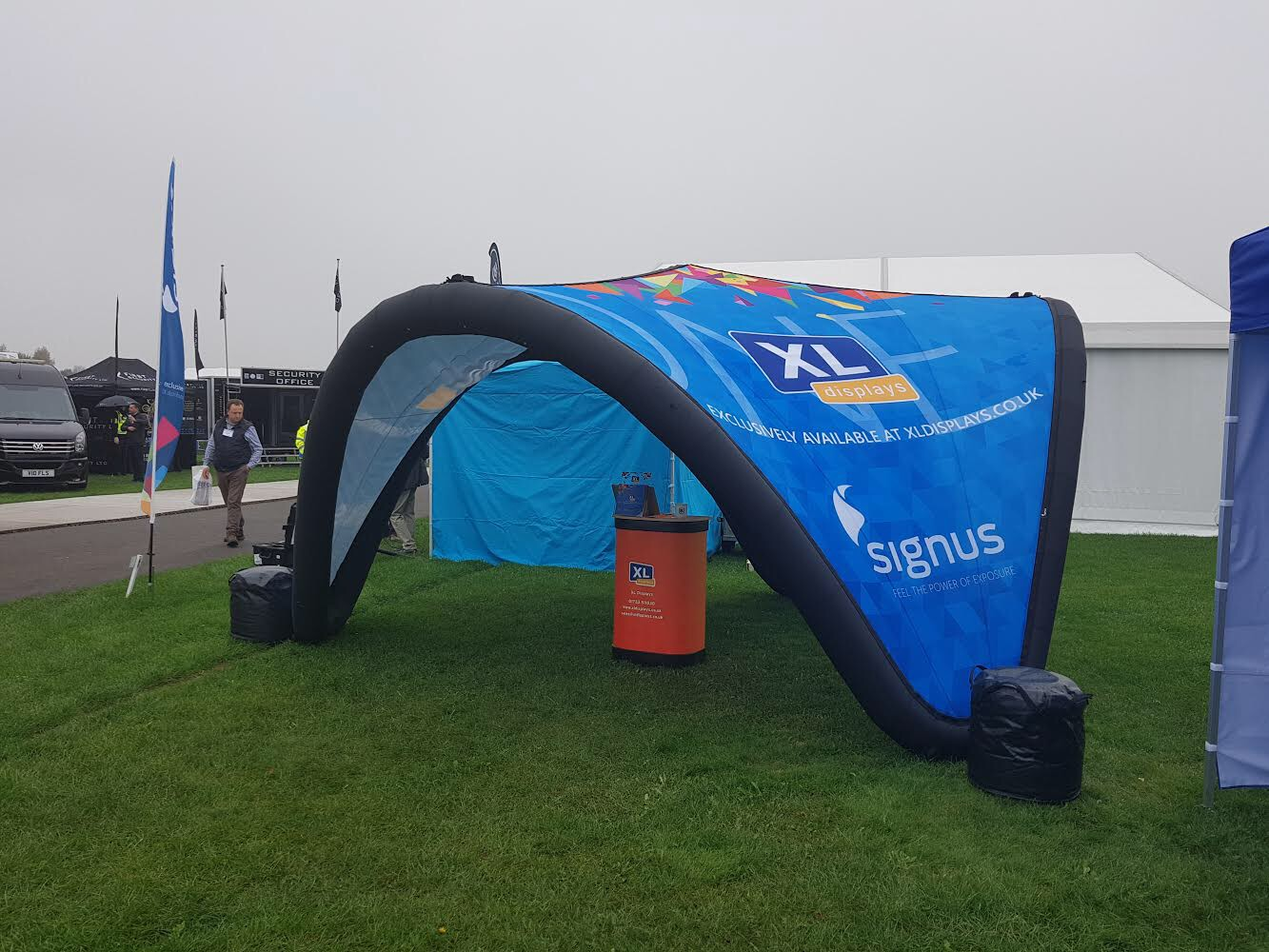 XL Displays Branded Signus ONE Marketing Pavillion