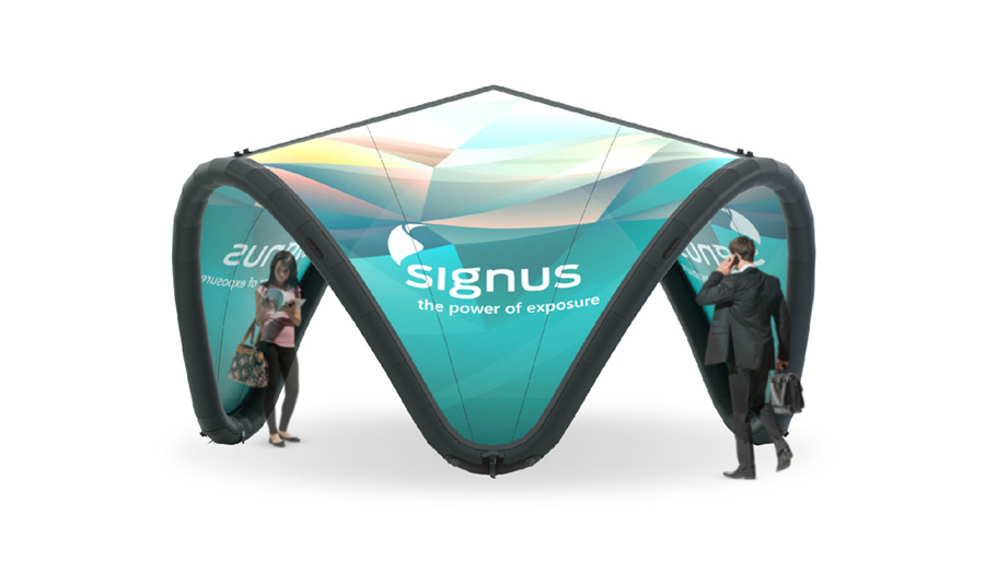 Signus ONE 5m Inflatable Brand Pavilion Fully Customised
