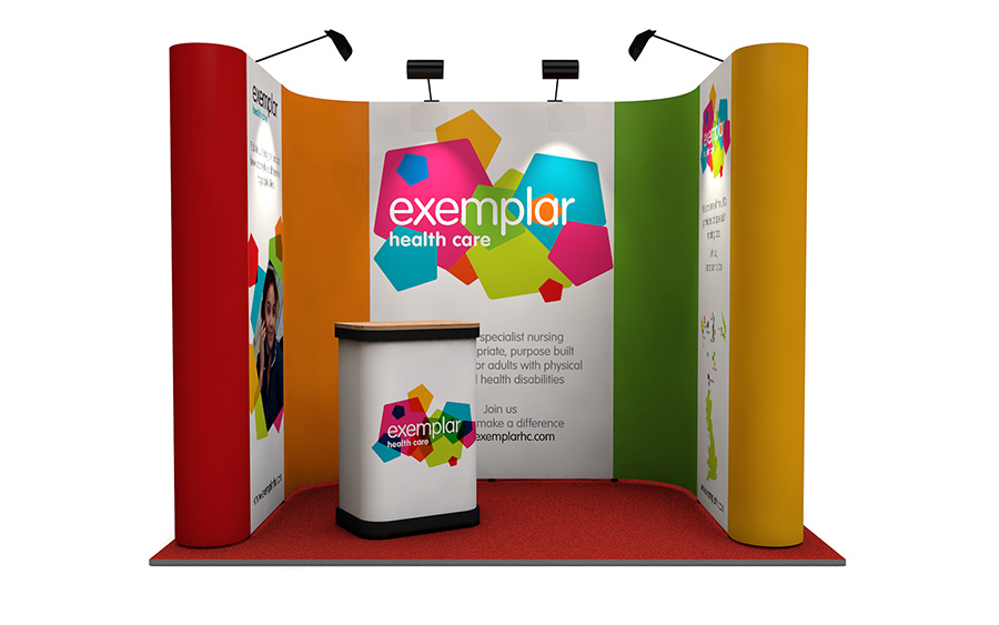 U-Shaped Linked Pop Up Stand