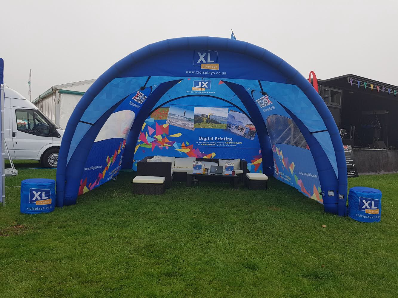 XL Displays Branded X-GLOO Event Tent