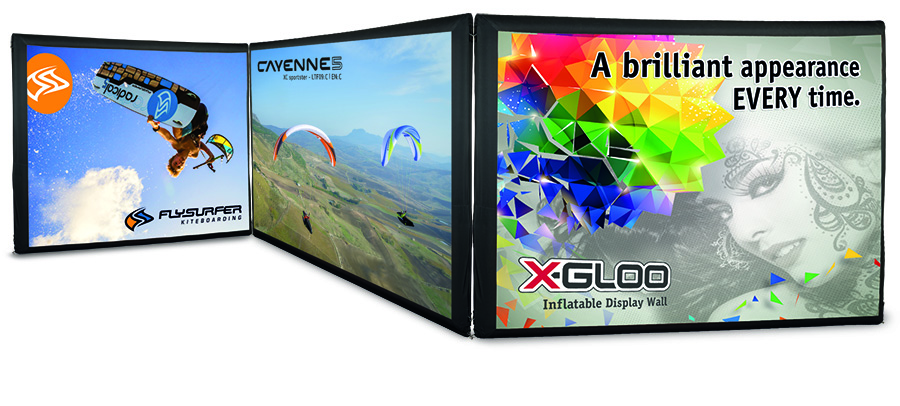 X-GLOO Inflatable Display Wall