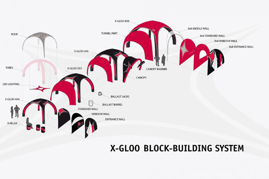 X-GLOO Inflatable Event Tents