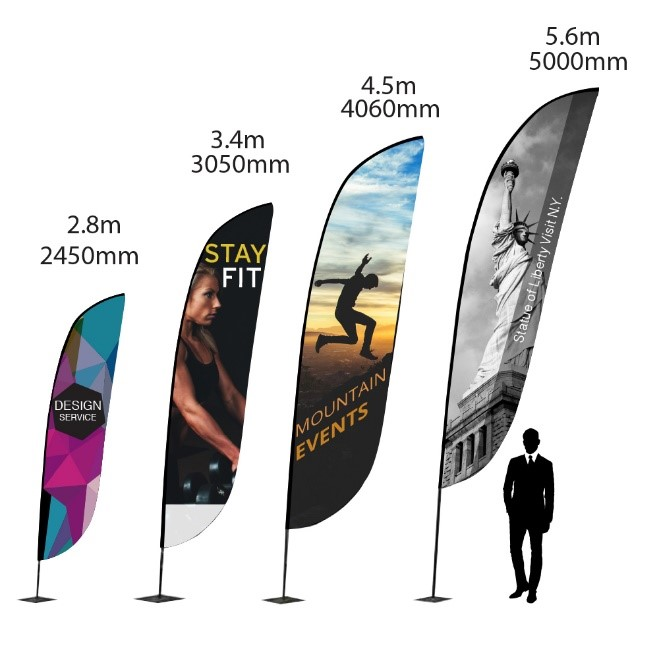 Zoom Lite Flag Sizes